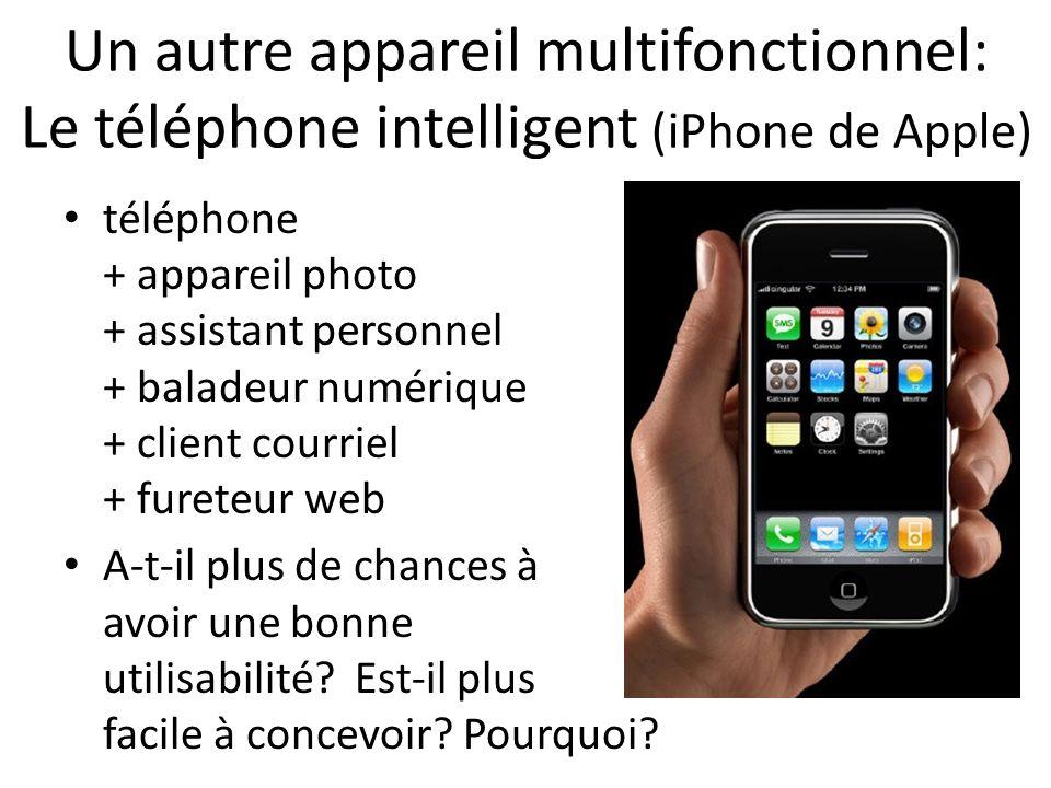 Un autre appareil multifonctionnel: Le téléphone intelligent (iPhone de Apple)