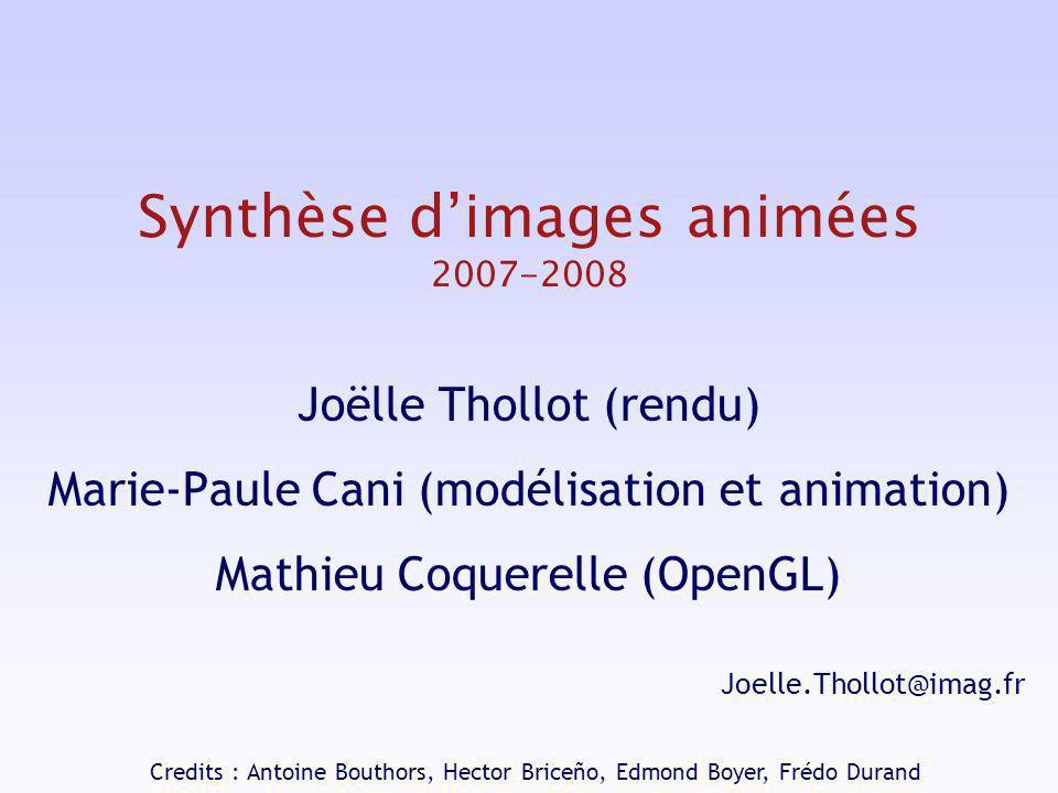 Synthèse d'images animées 2007-2008