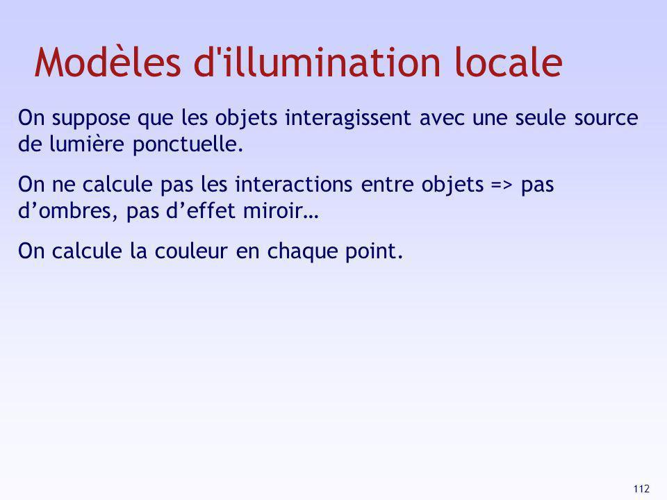 Modèles d illumination locale