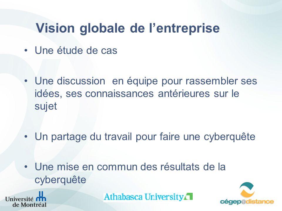 Vision globale de l'entreprise