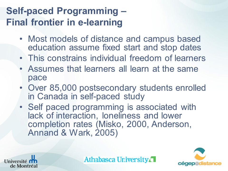 Self-paced Programming – Final frontier in e-learning
