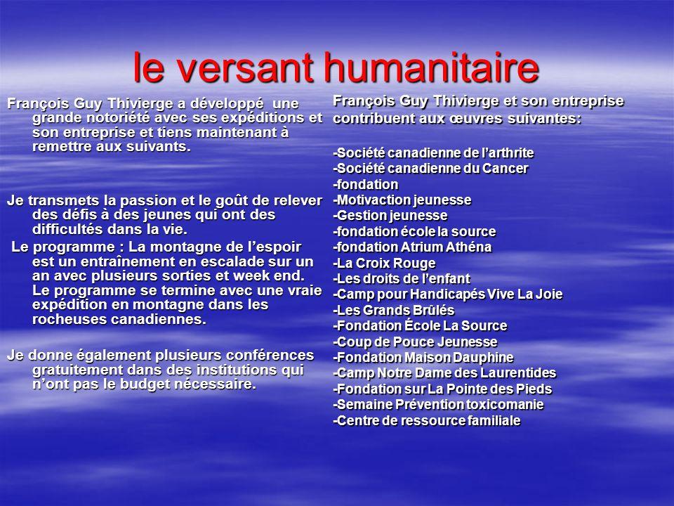 le versant humanitaire
