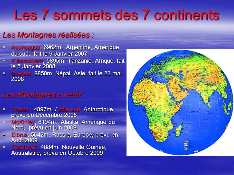 Les 7 sommets des 7 continents