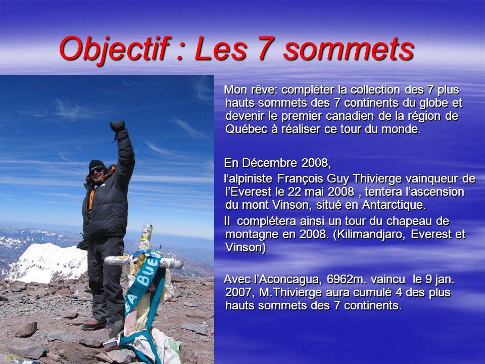 Objectif : Les 7 sommets