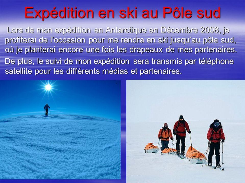 Expédition en ski au Pôle sud