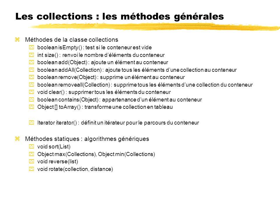 Les collections : les méthodes générales