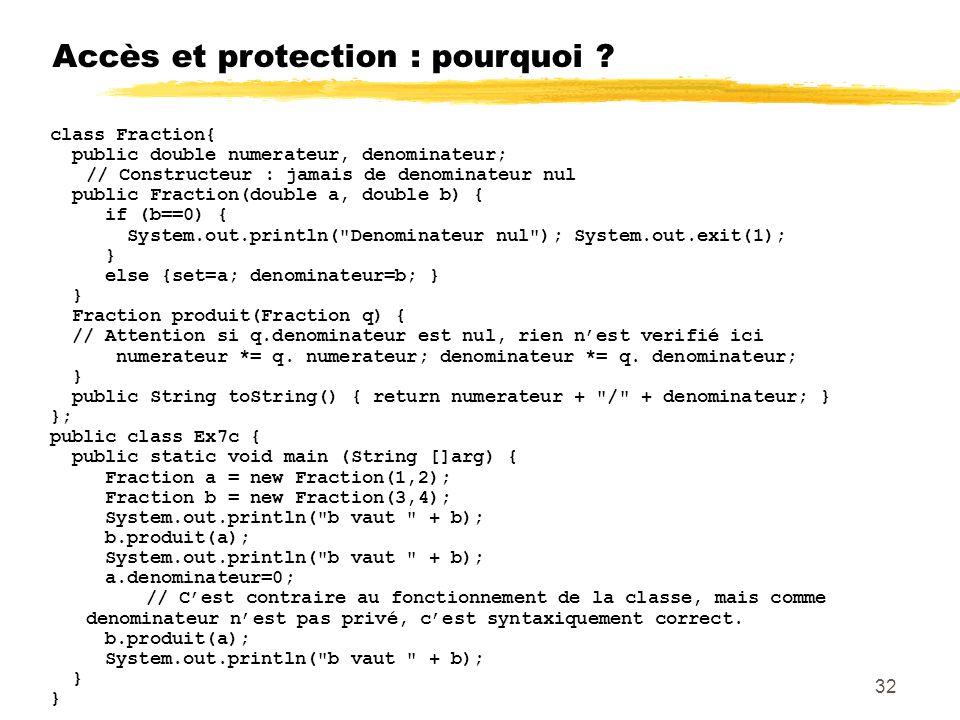 Accès et protection : pourquoi