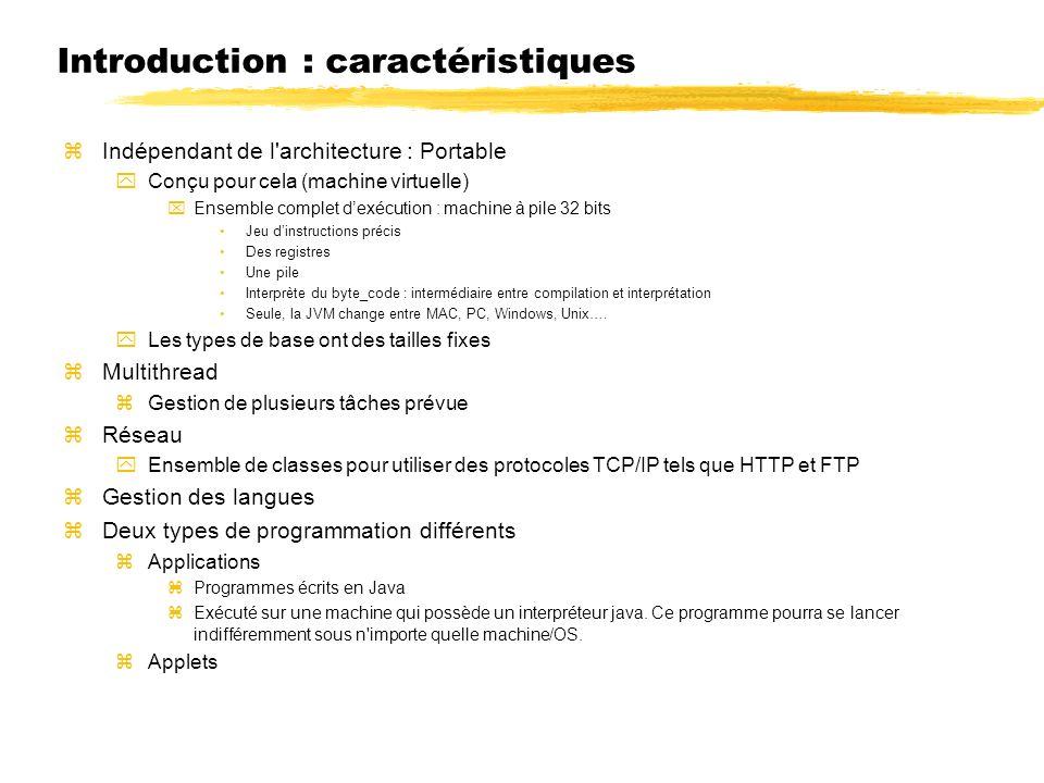 Introduction : caractéristiques