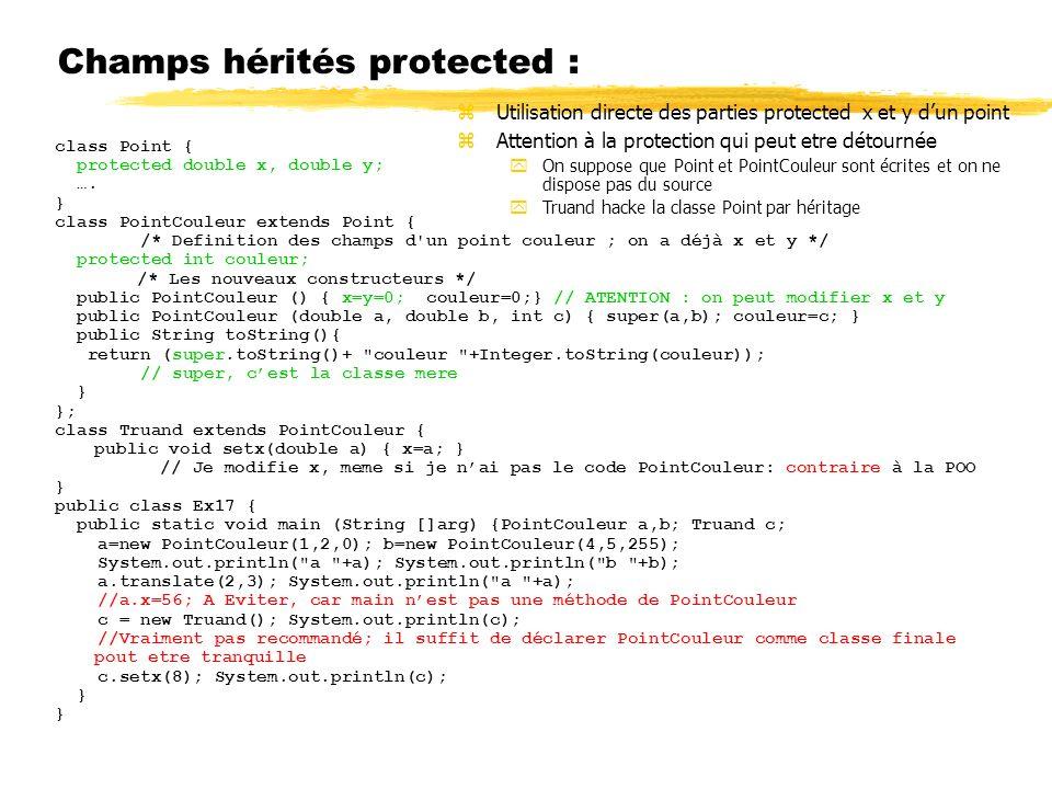 Champs hérités protected :