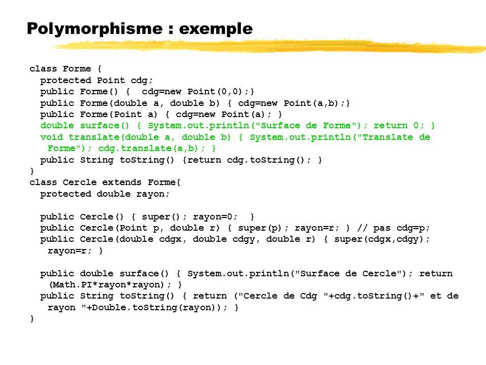 Polymorphisme : exemple