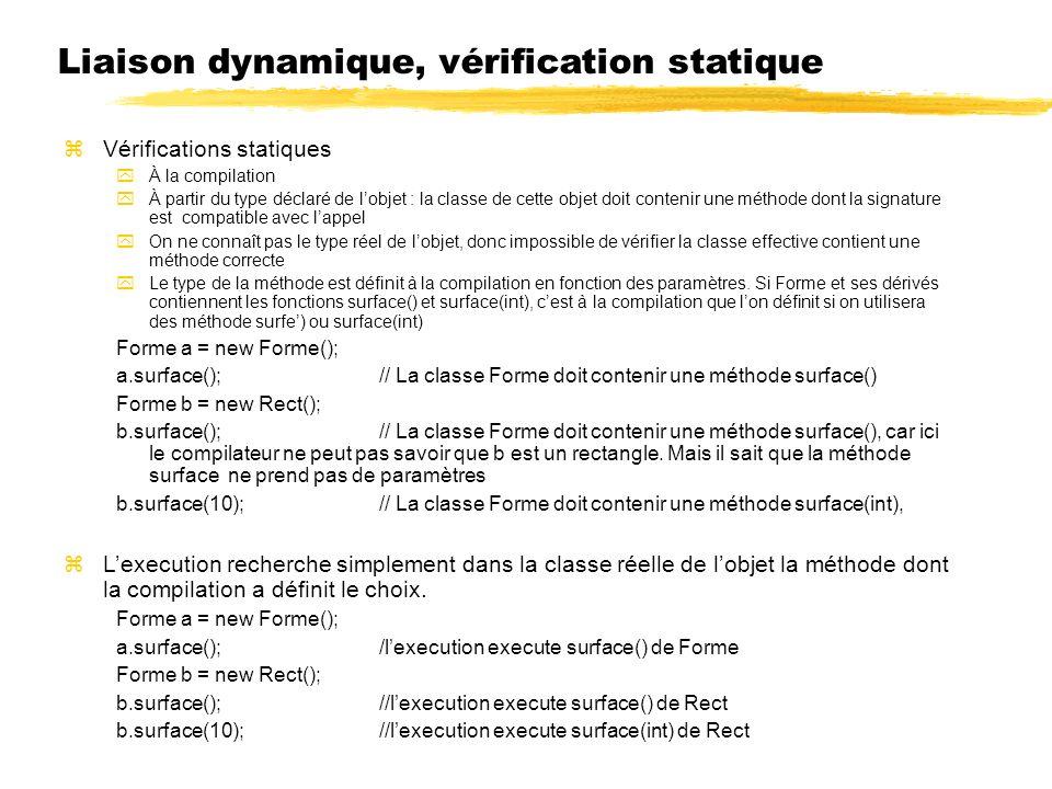 Liaison dynamique, vérification statique