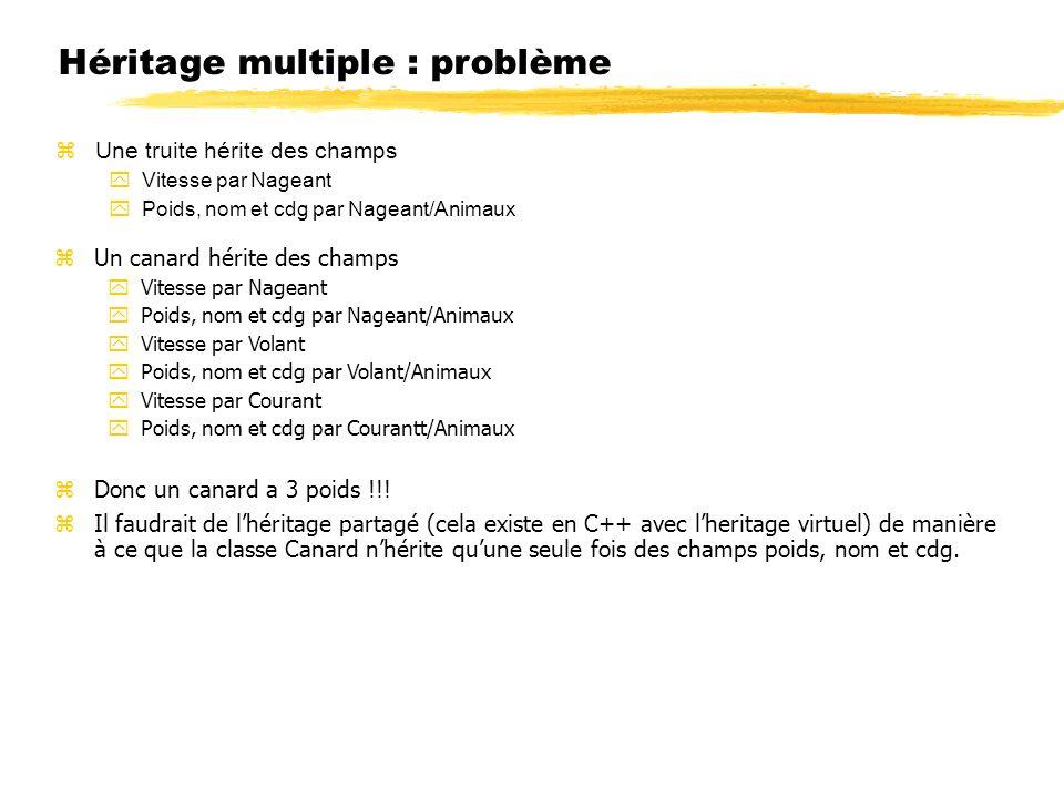 Héritage multiple : problème