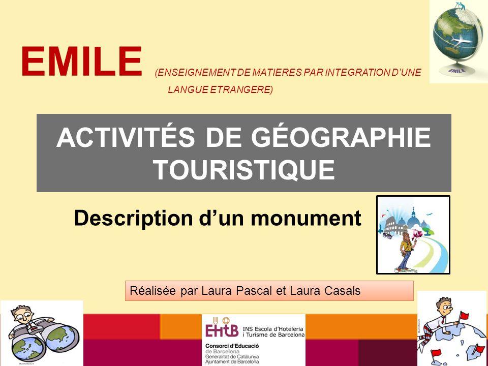 ACTIVITÉS DE GÉOGRAPHIE TOURISTIQUE
