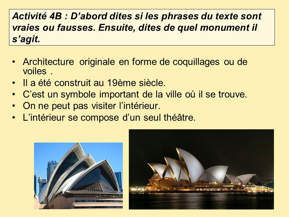 Architecture originale en forme de coquillages ou de voiles .