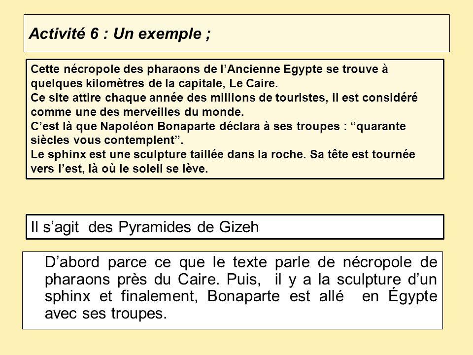 Il s'agit des Pyramides de Gizeh