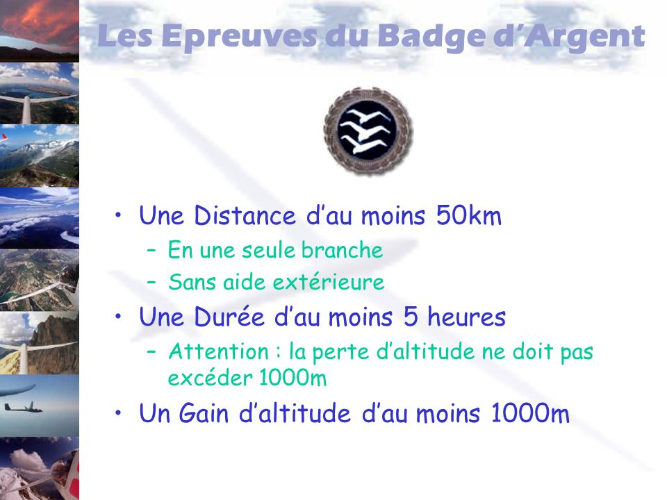 Les Epreuves du Badge d'Argent