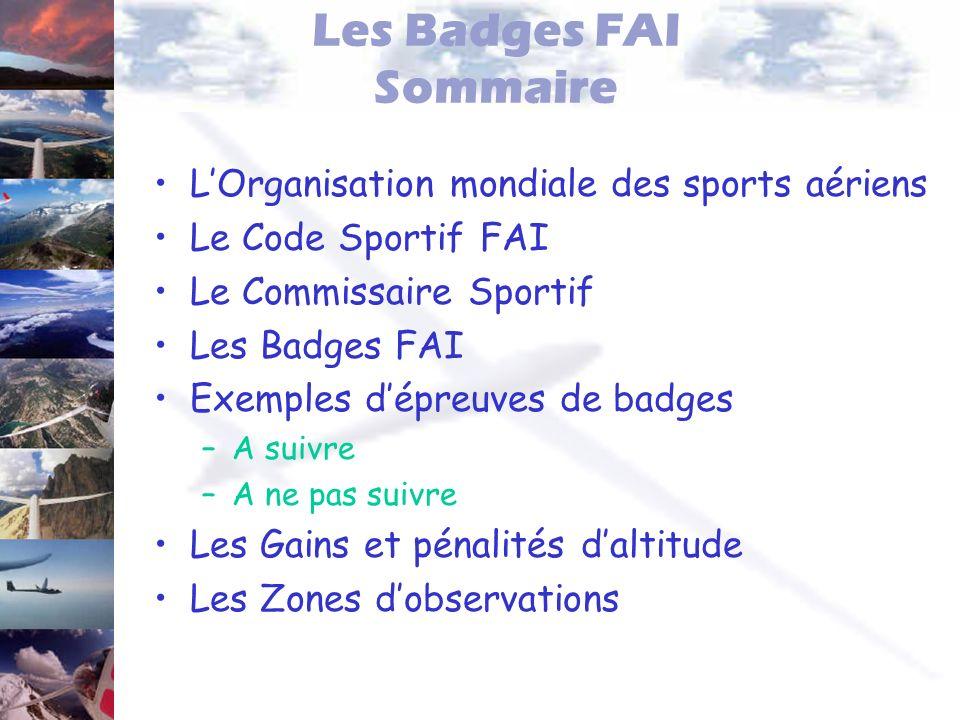Les Badges FAI Sommaire