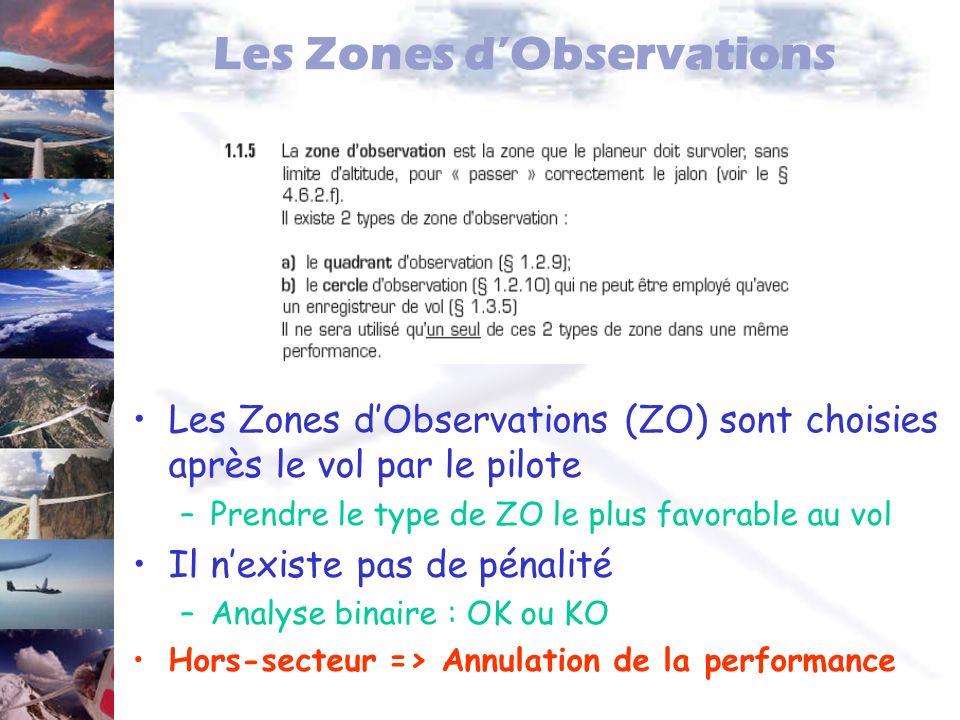 Les Zones d'Observations