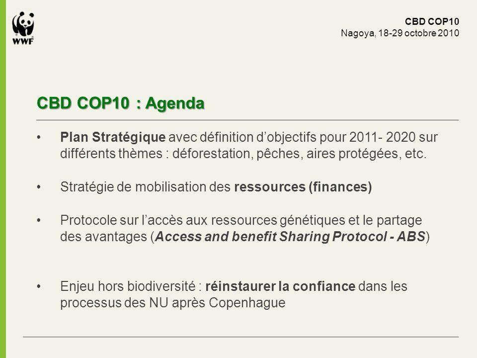 CBD COP10 Nagoya, 18-29 octobre 2010. CBD COP10 : Agenda.