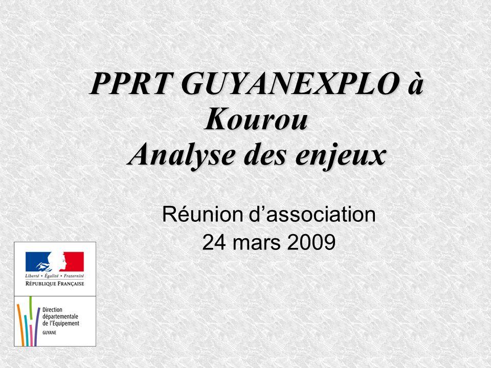 PPRT GUYANEXPLO à Kourou Analyse des enjeux