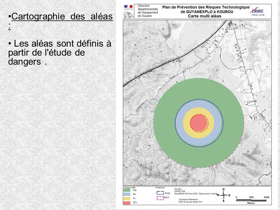 Cartographie des aléas :