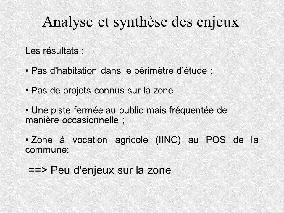 Analyse et synthèse des enjeux