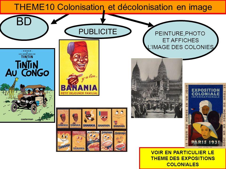 VOIR EN PARTICULIER LE THEME DES EXPOSITIONS COLONIALES