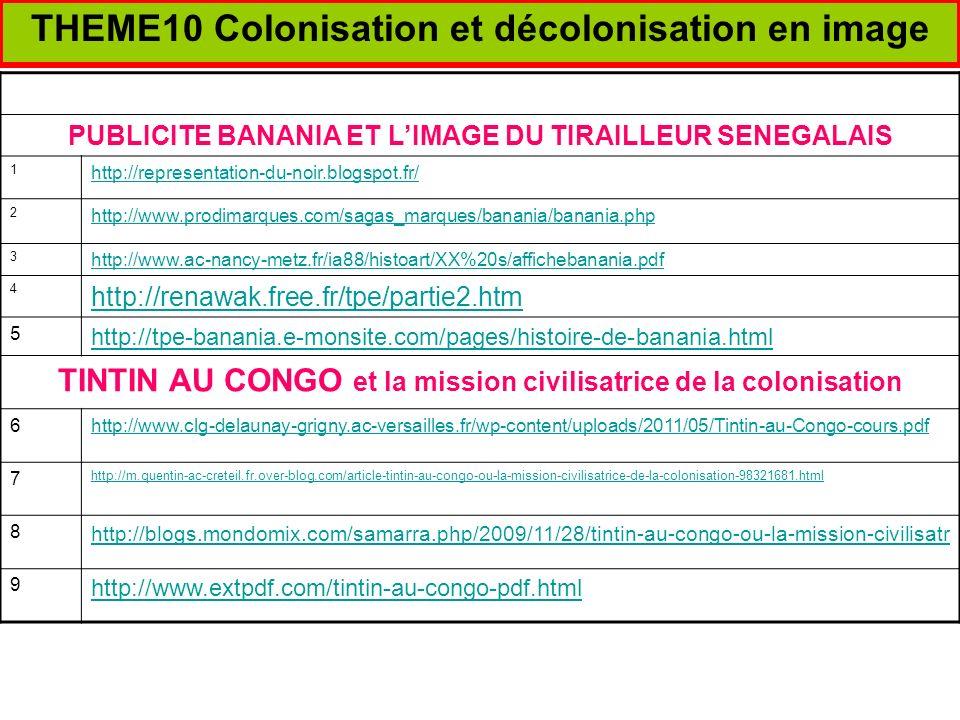 THEME10 Colonisation et décolonisation en image