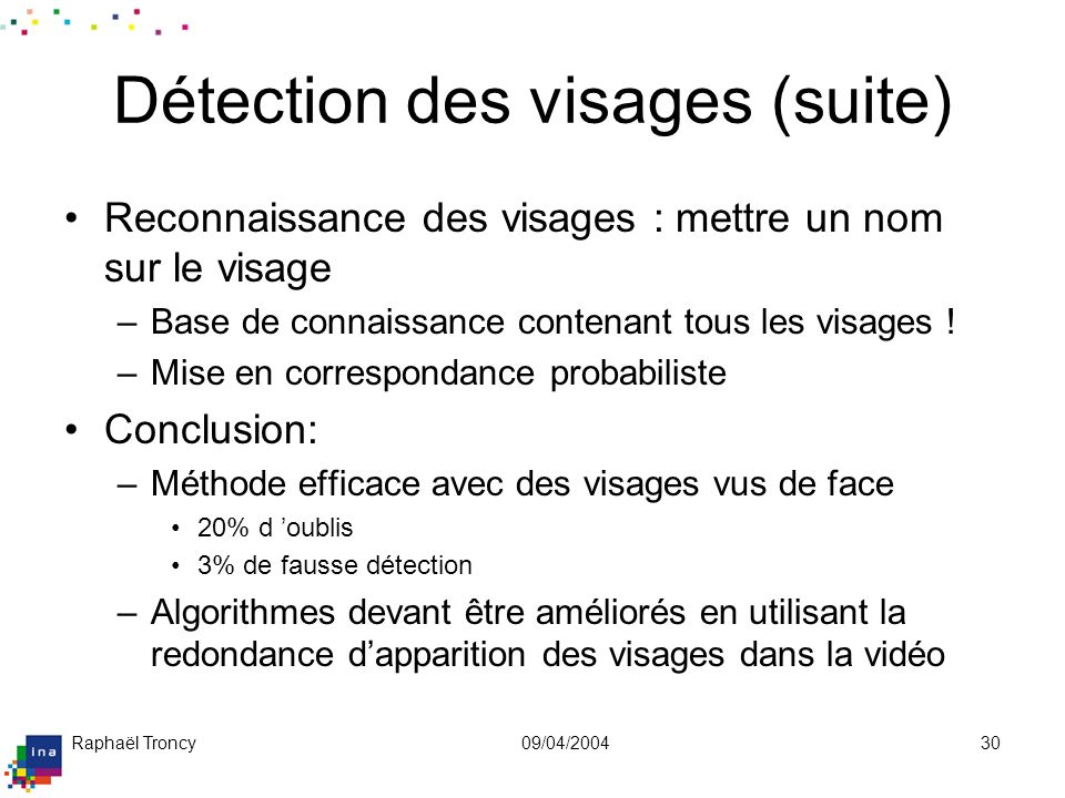 Exemple de détection de visages