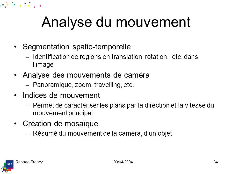 Exemple de détection de régions en mouvement