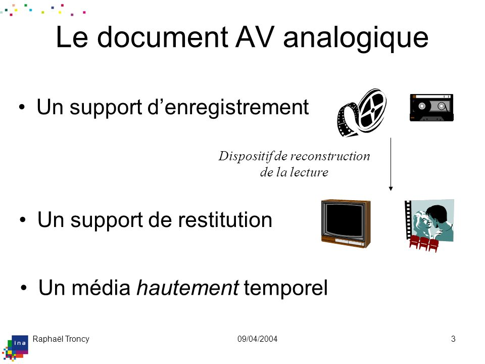 Le document AV analogique (suite)