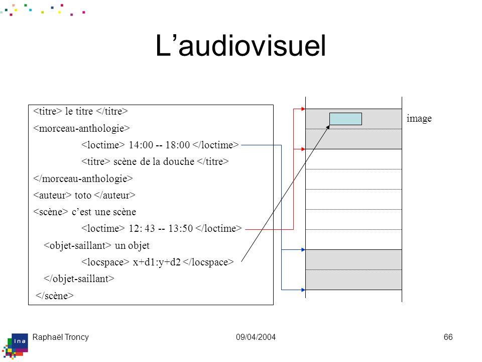 XML pour l'audiovisuel