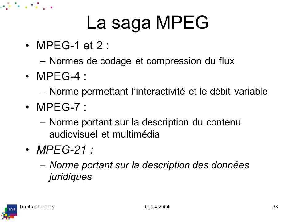 MPEG-1 & 2Normes définissant un encodage correspondant à une compression du signal. L'unité de manipulation définie sur l'image est le pixel :