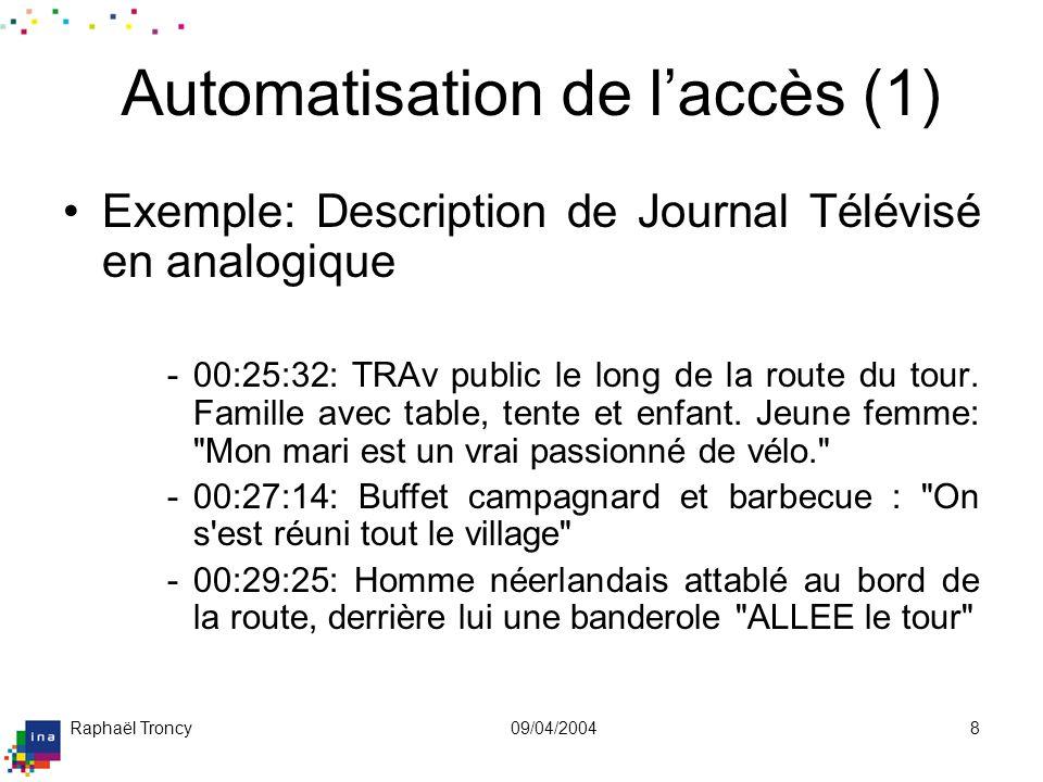 Automatisation de l'accès (2)
