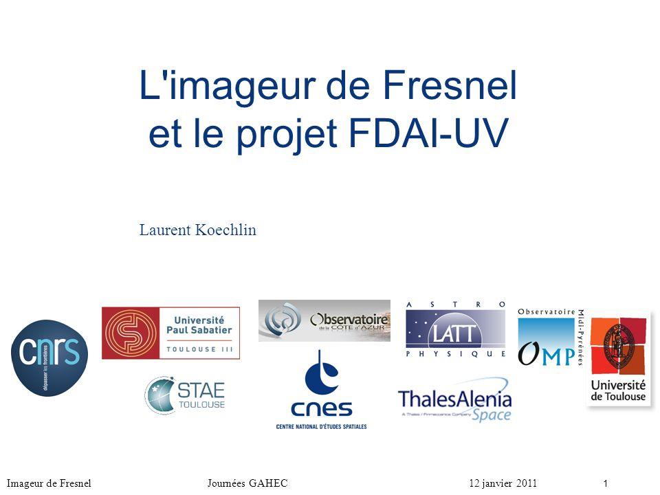 L imageur de Fresnel et le projet FDAI-UV