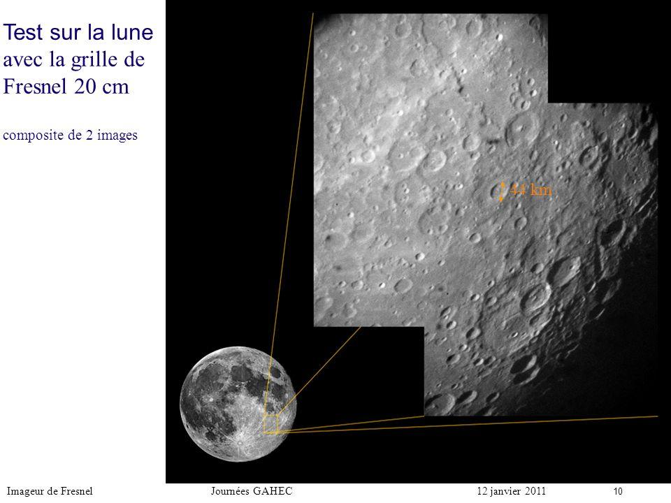 Test sur la lune avec la grille de Fresnel 20 cm