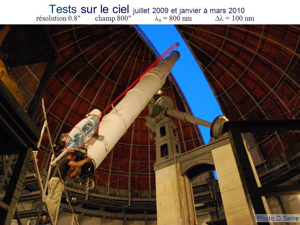 Tests sur le ciel juillet 2009 et janvier à mars 2010