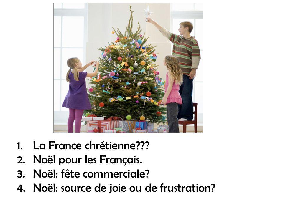 La France chrétienne . Noël pour les Français. Noël: fête commerciale.