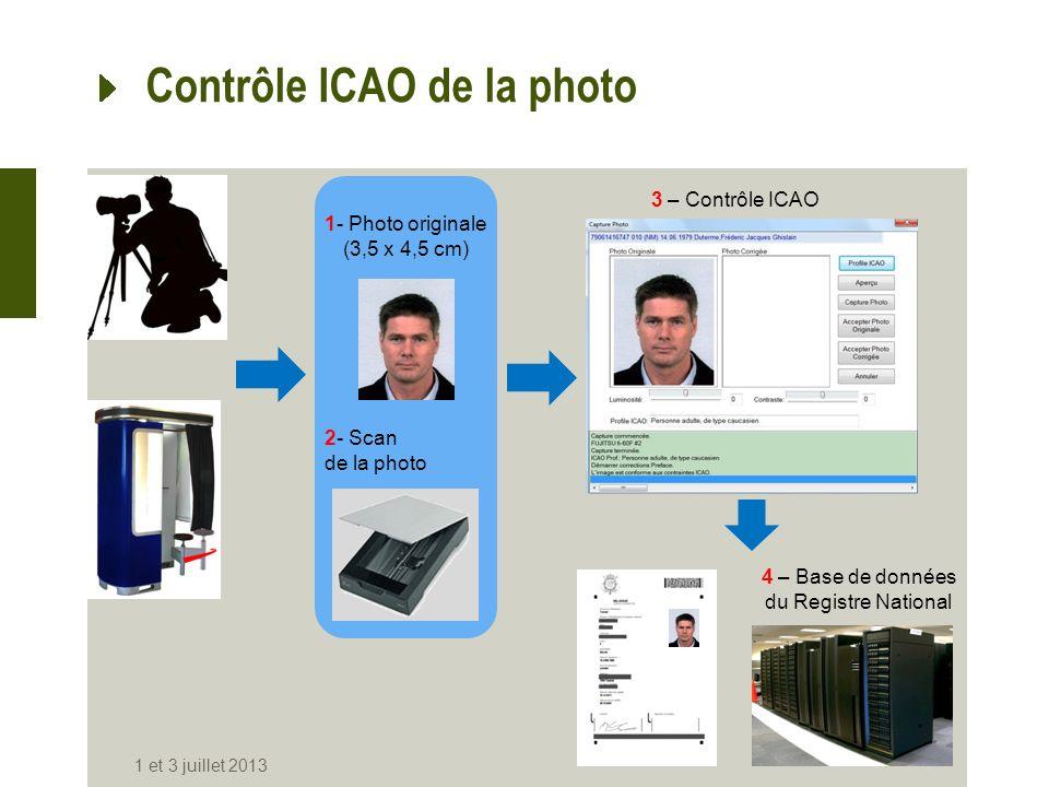 Contrôle ICAO de la photo