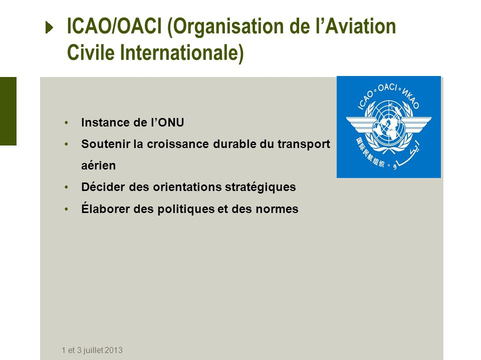 ICAO/OACI (Organisation de l'Aviation Civile Internationale)