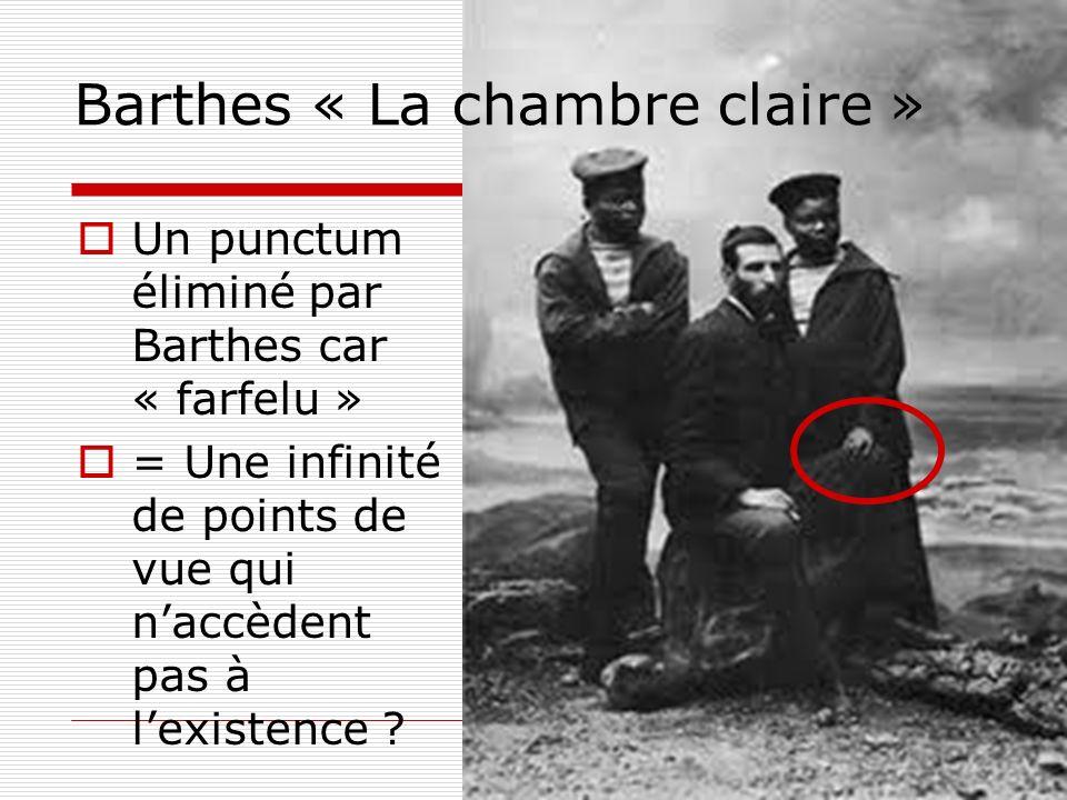 Barthes « La chambre claire »