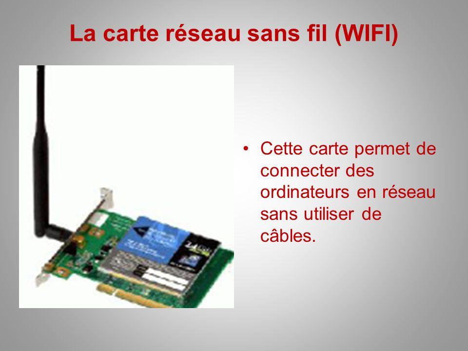 La carte réseau sans fil (WIFI)