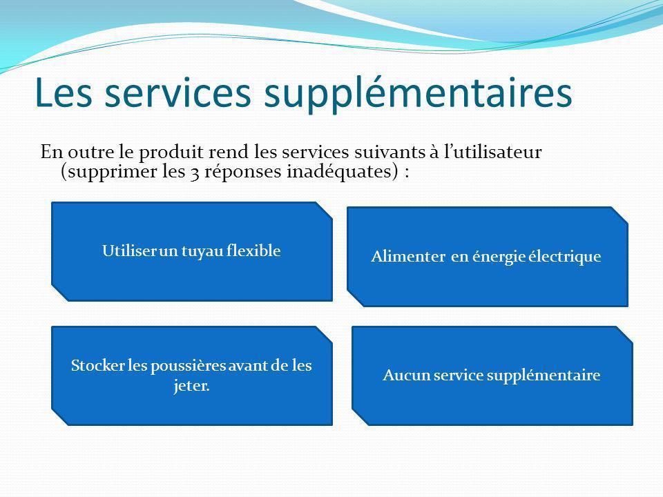 Les services supplémentaires