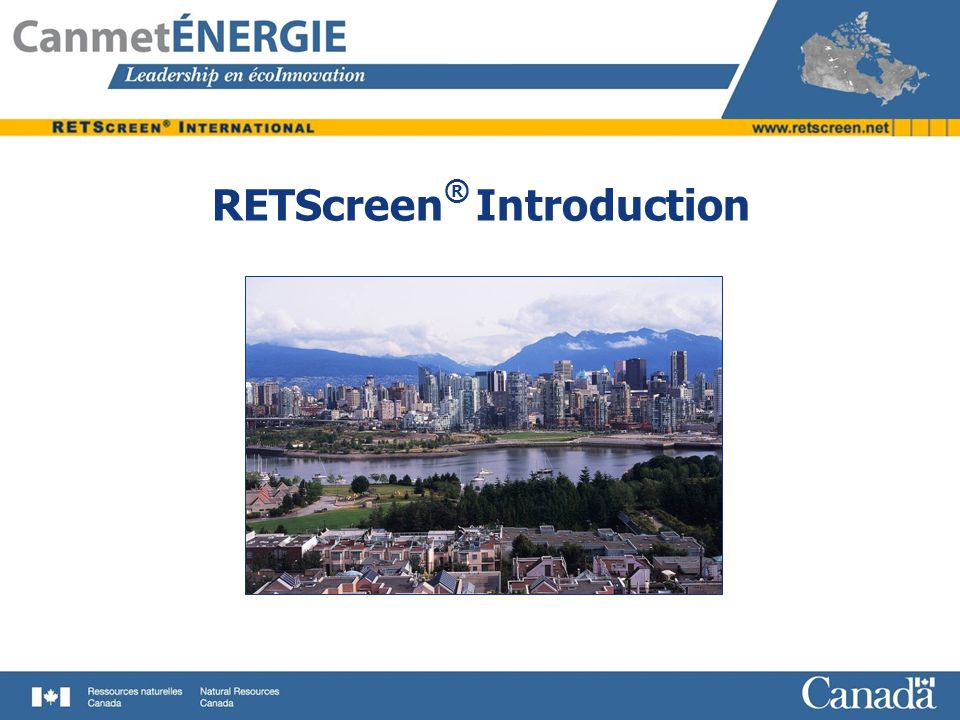 RETScreen® Introduction