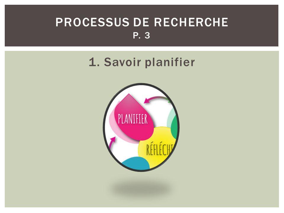 Processus de recherche p. 3