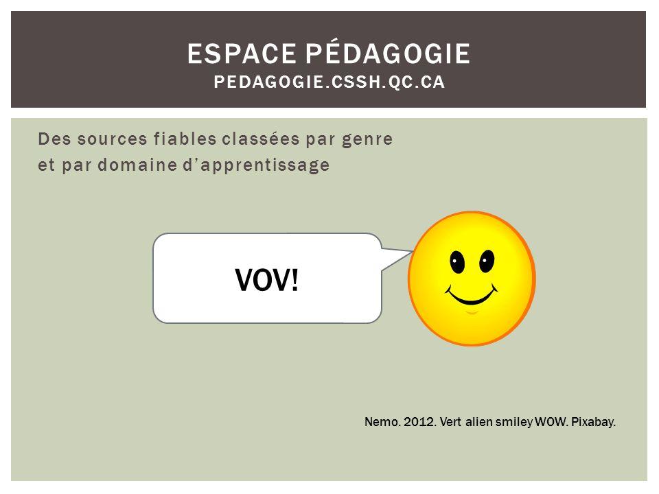 Espace pédagogie pedagogie.cssh.qc.ca