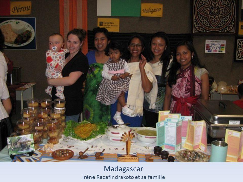 Irène Razafindrakoto et sa famille