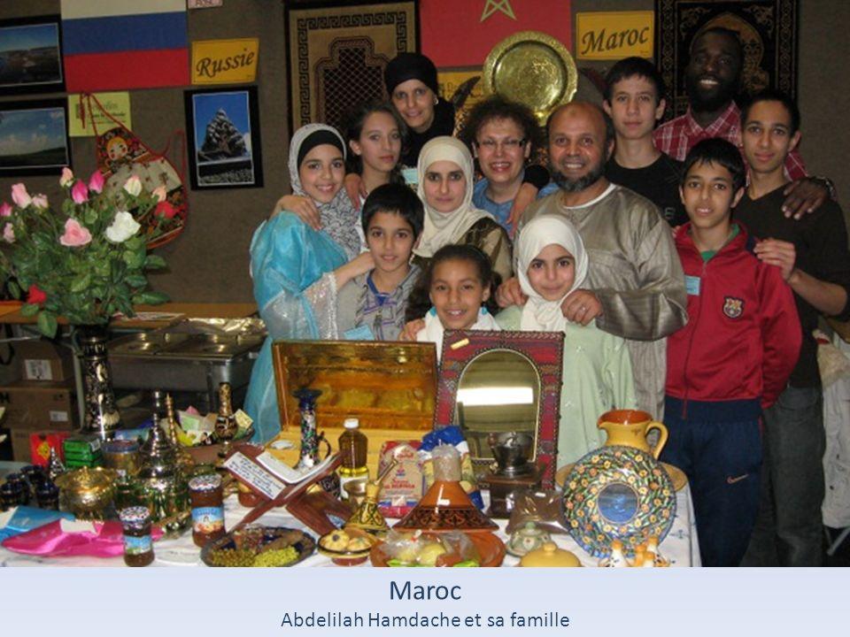 Abdelilah Hamdache et sa famille
