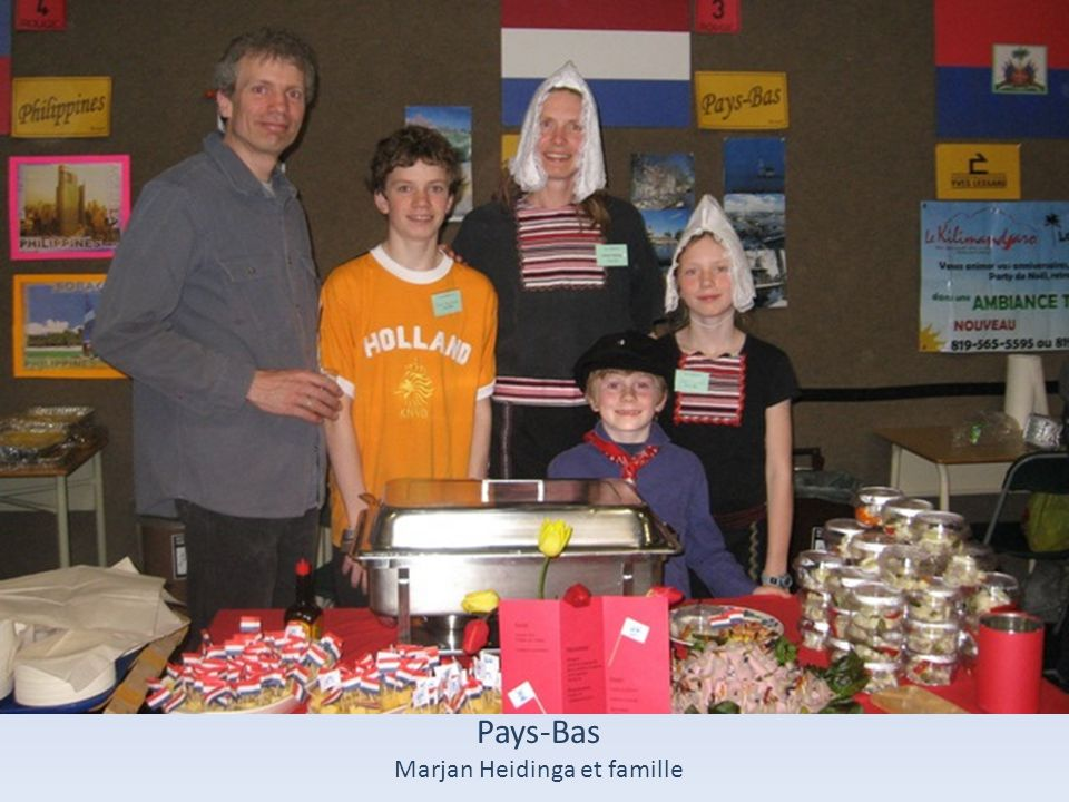 Marjan Heidinga et famille