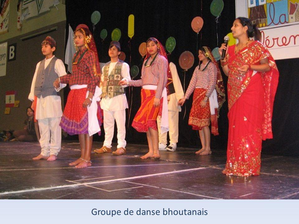 Groupe de danse bhoutanais